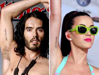 Katy Perry & Russell Brand Reveal Matching Tattoos
