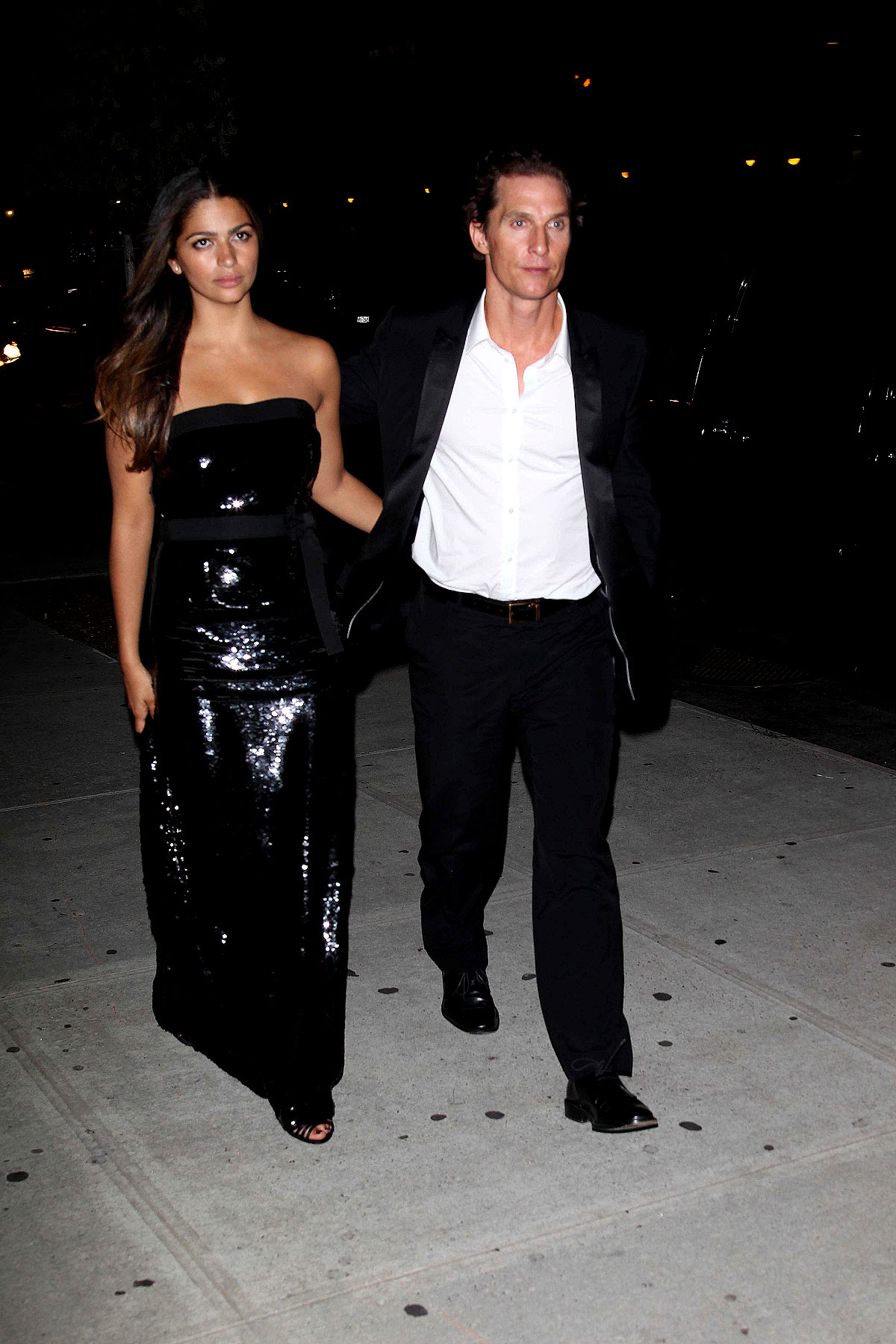 Matthew McConaughey & Camilla Alves Get Shiny For A Night On The Town (PHOTOS)