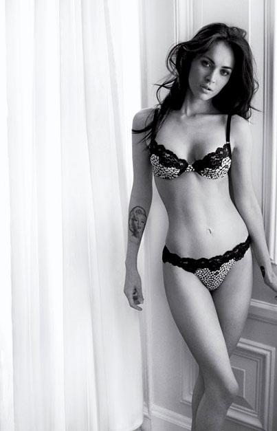 Megan Fox Strips Down for Armani