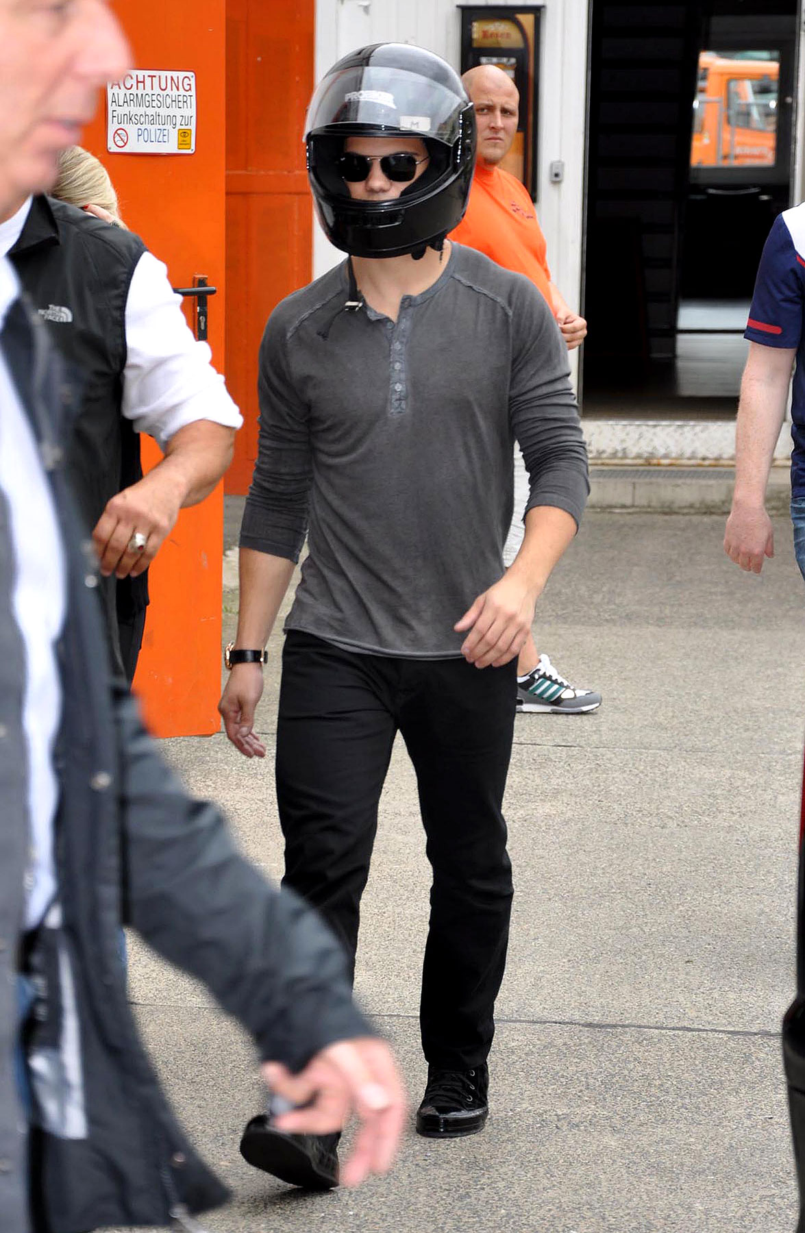 Taylor Lautner Goes Go-Karting In Germany (PHOTOS)