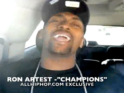 Ron Artest Sets the Lakers' NBA Win to Music (VIDEO)