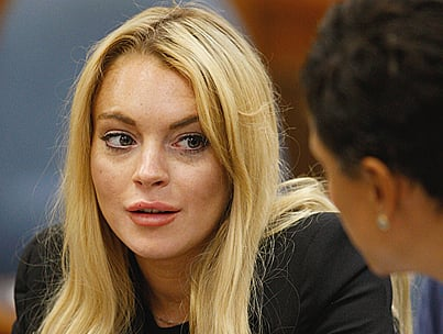 Lindsay Lohan Gets Served Moments Before Probation Hearing