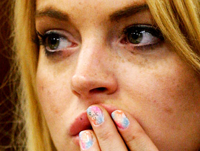 Is Lindsay Lohan's F-Word Nail In Contempt Of Court?