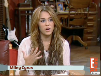 Miley Cyrus Doesn't Think She's Cute (VIDEO)