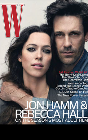 Jon Hamm & Rebecca Hall Steam Up 'W' (PHOTOS)