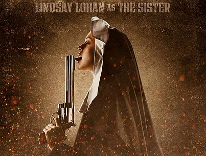 Lindsay Lohan Is a Gun-Licking Nun in New 'Machete' Poster
