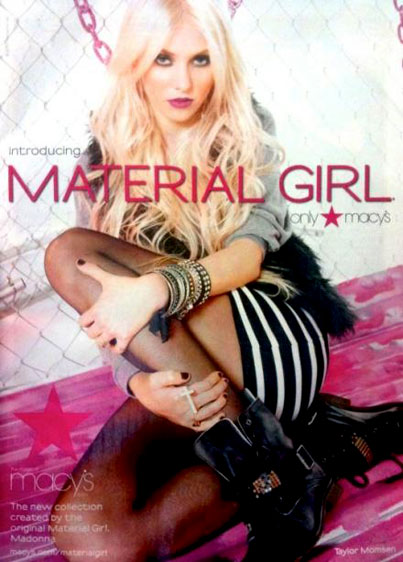 Taylor Momsen Is a  Macy's Material Girl