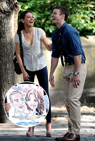 Justin Timberlake & Mila Kunis: Laugh Riot on the Set (PHOTOS)