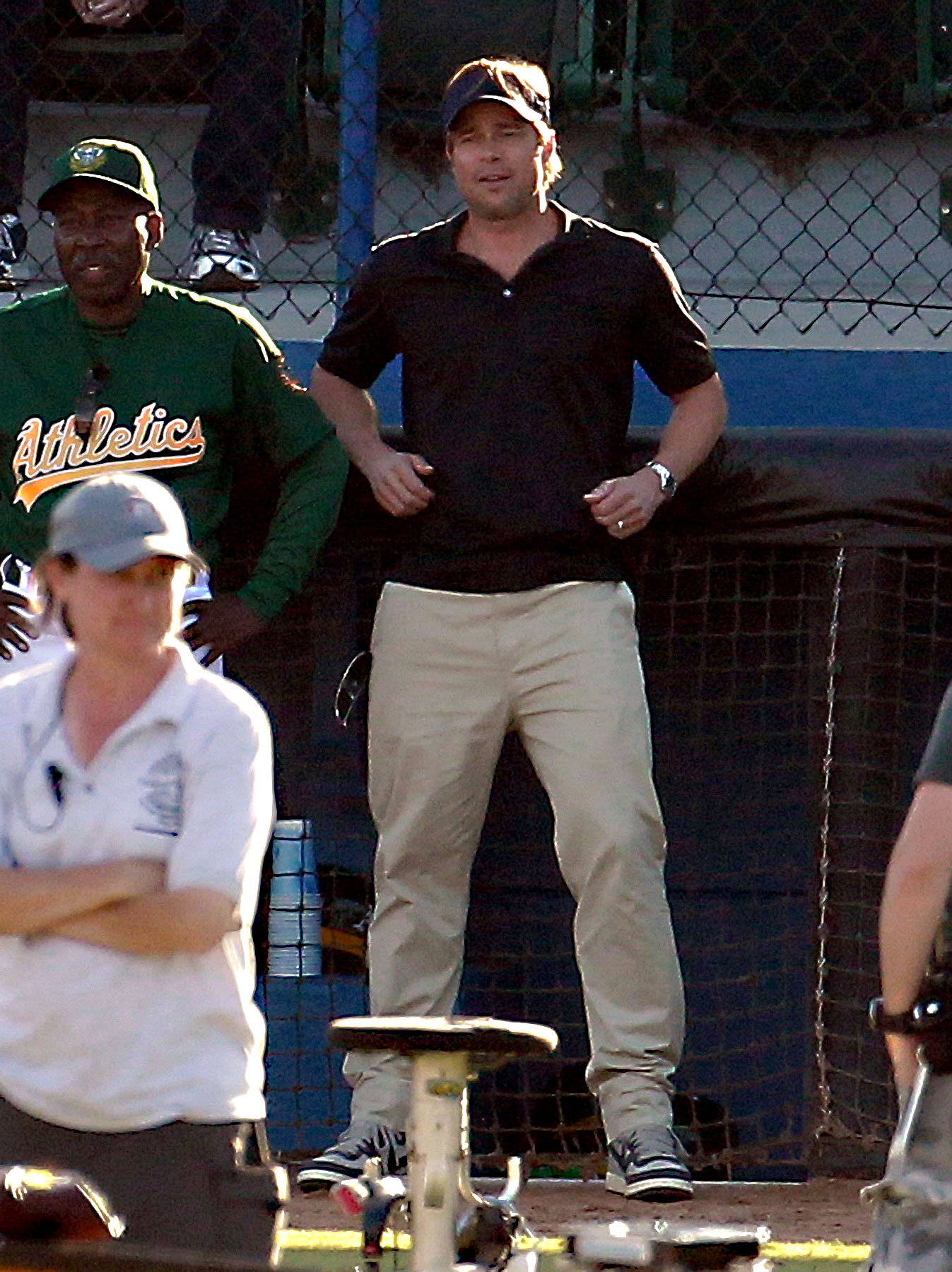 Brad Pitt Takes 'Moneyball' to the Field (PHOTOS)