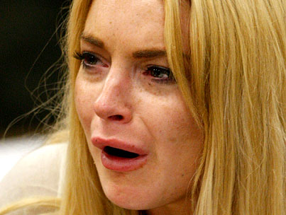 Lindsay Lohan's Teary First Day in Jail