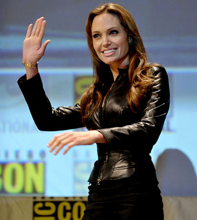 BIG BUZZ: Angelina Jolie Wears Leather and Much Much More!