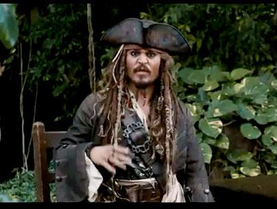 Johnny Depp Brings Back Captain Jack [VIDEO]
