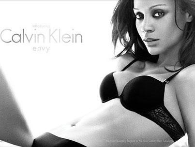 Zoe Saldana Strips Down for Calvin Klein