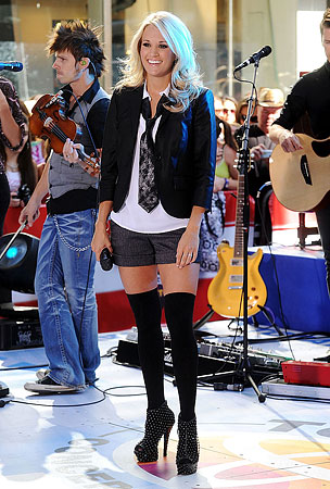 Is Carrie Underwood's Sexy Schoolgirl Get-Up Too Hot for 'Today'? (PHOTOS)