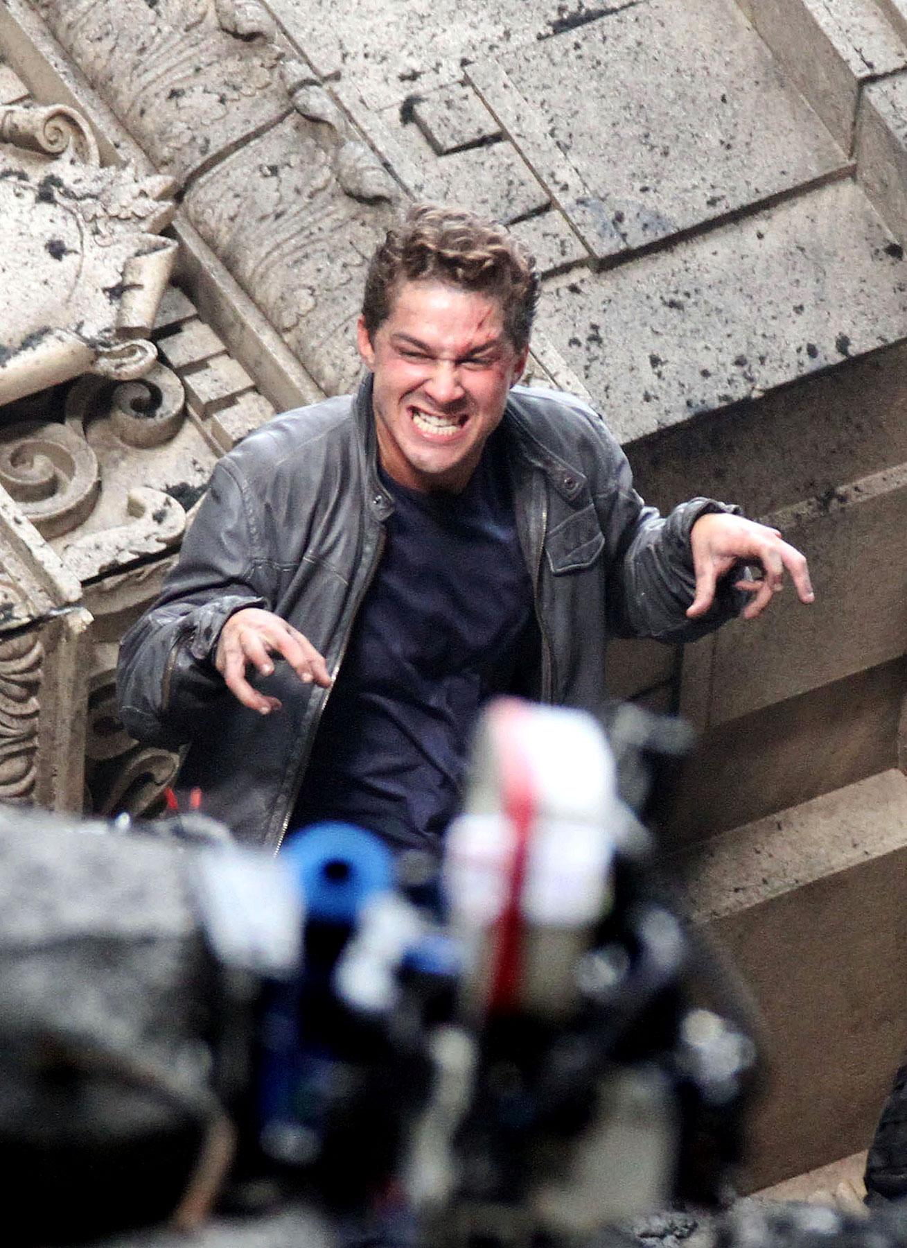 Shia LaBeouf Goes Berserk on 'Transformers 3′ Set! (PHOTOS)
