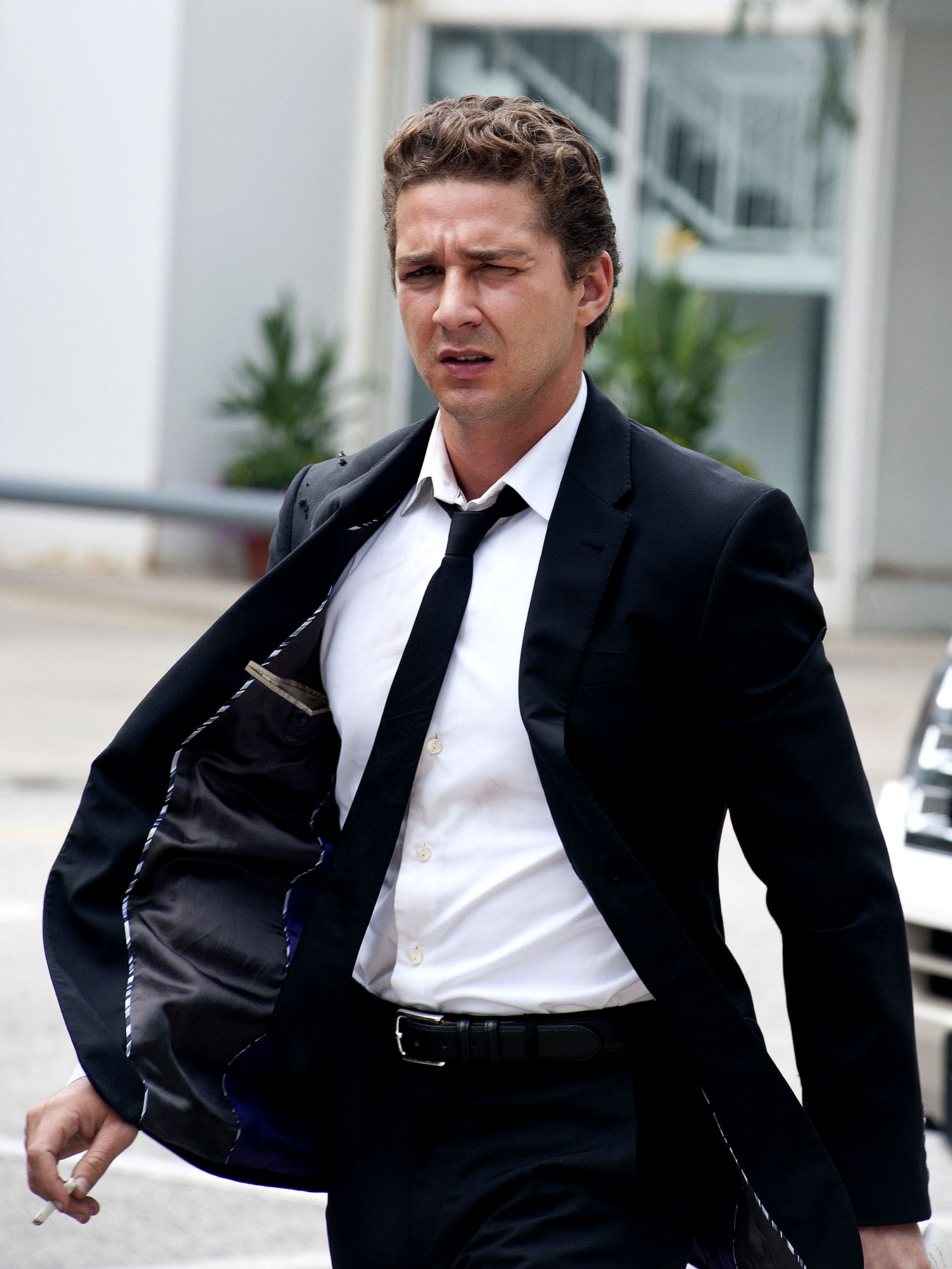 Shia LaBeouf Suits Up on 'Transformers 3′ Set