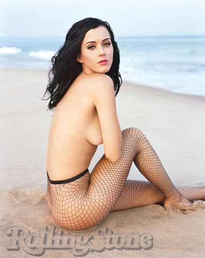 Katy Perry's Topless Beach Romp With 'Rolling Stone'