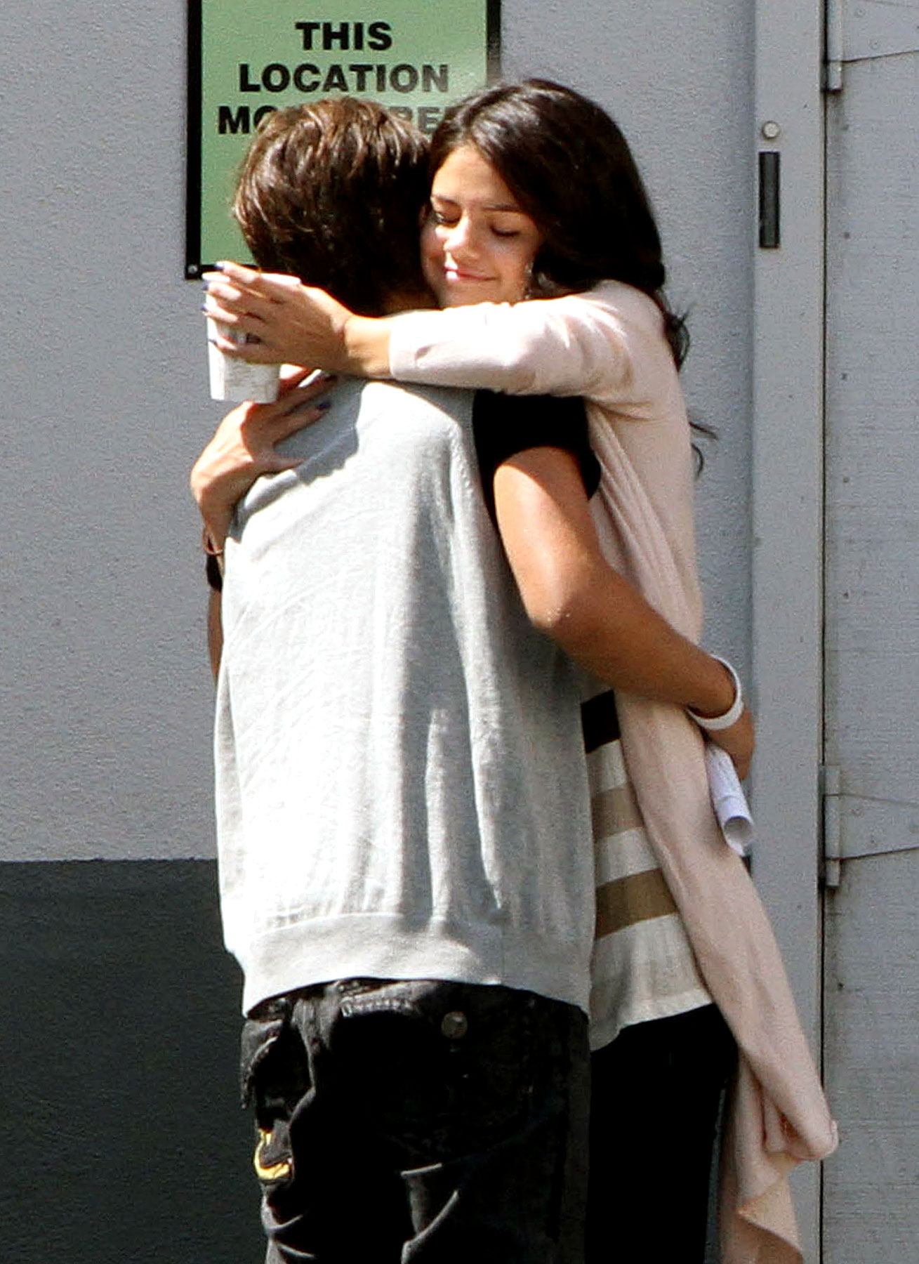 Selena Gomez & Jake T. Austin Hug it Out (PHOTOS)