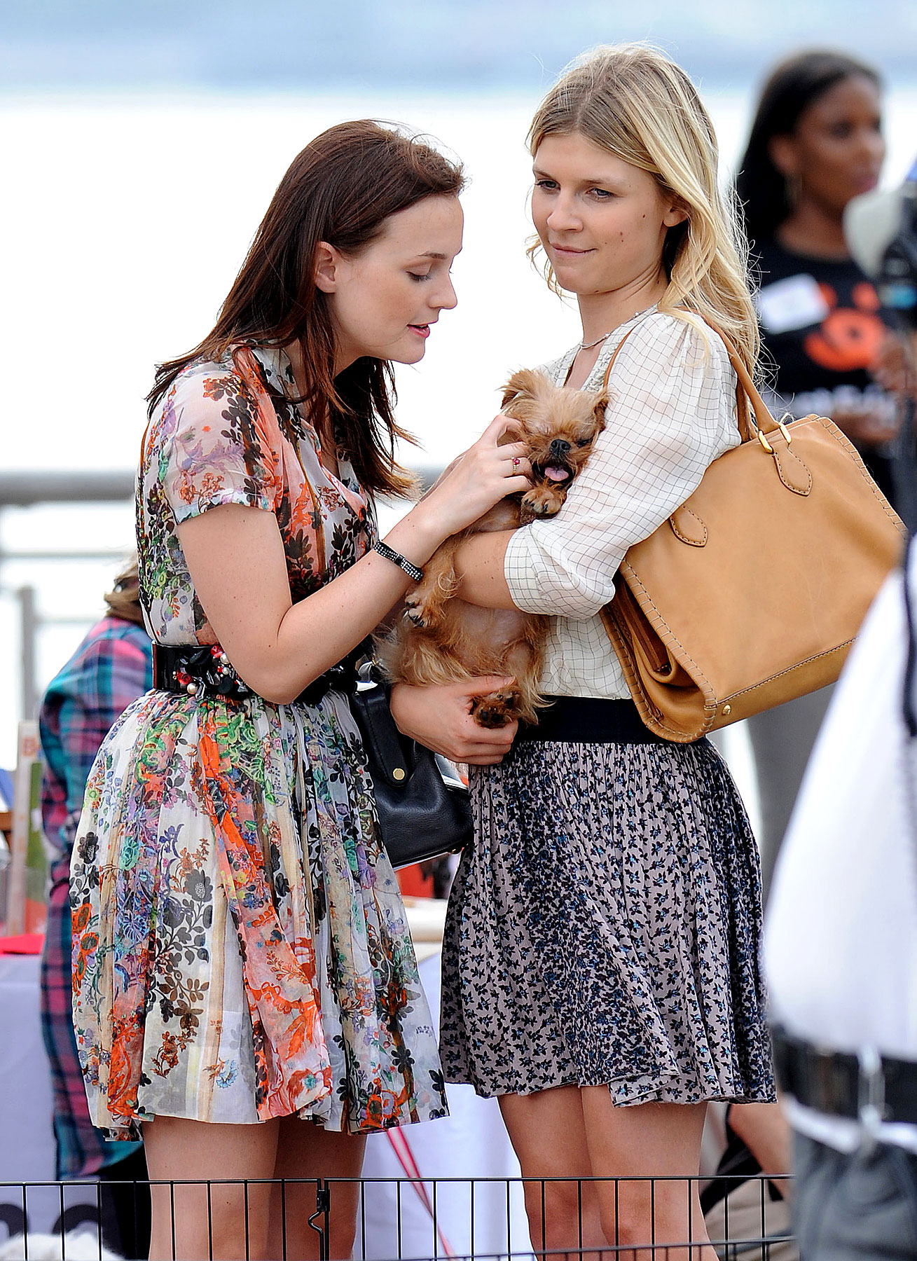 Leighton Meester Shows Clemence Poesy Some Puppy Love (PHOTOS)