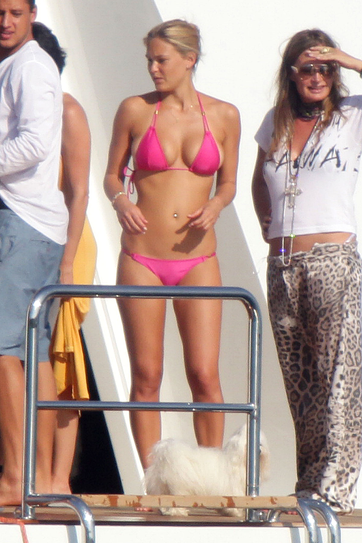 Bar Refaeli Bikinis on a Boat (PHOTOS)