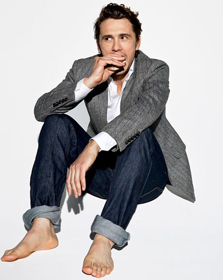 Esquire Reveals James Franco Reads 'Twilight' (PHOTOS)