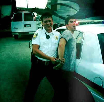 Joe Jonas Gets Arrested! (Sorta)