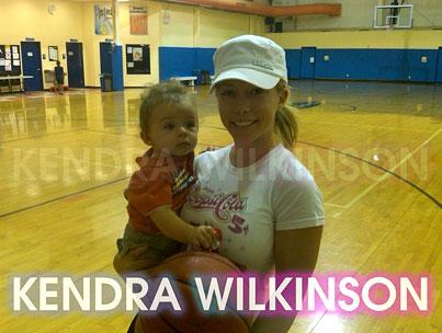 Kendra Wilkinson and Baby Hank Hoop It Up
