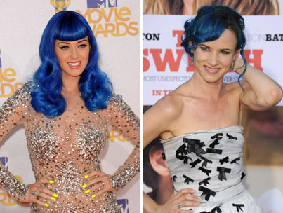 Trend Alert: Katy Perry & Juliette Lewis' Smurf-Blue Hair