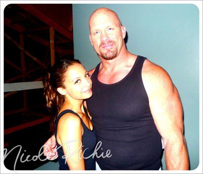 Nicole Richie Hangs With Stone Cold Steve Austin-photo