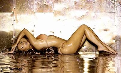Kim Kardashian's Bikini-Clad Calendar Preview