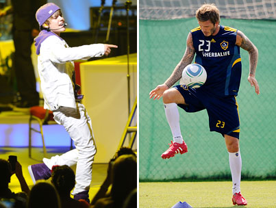 Justin Bieber Wants to Bend it With Beckham