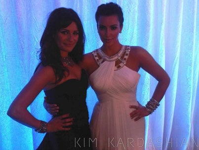 Kim Kardashian and Lea Michele: Emmy BFFs