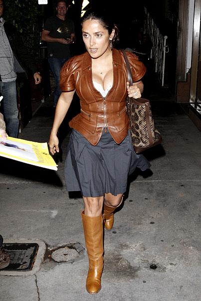 Salma Hayek Loves Leather (PHOTOS)