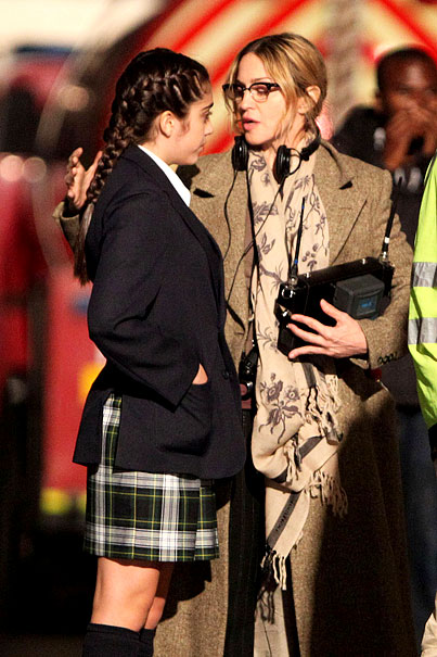 Madonna and Lourdes Bond On the 'W.E.' Set (PHOTOS)
