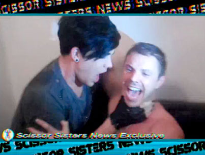 Adam Lambert Makes Out With a Scissor Sister (VIDEO)