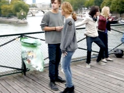 Miley Cyrus & Douglas Booth Dance in Paris (VIDEO)