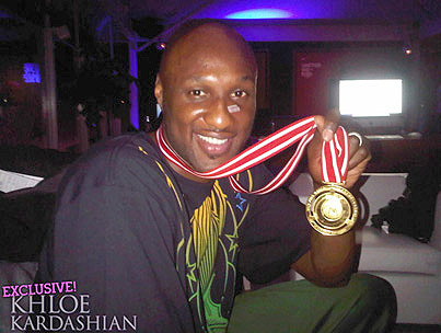 Lamar Odom Takes Home the Gold