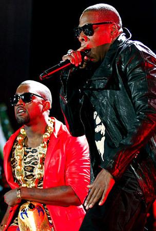 Jay-Z and Kanye West Rock Yankee Stadium (PHOTOS)