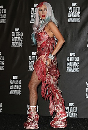 Lady Gaga's VMA Meat Dress: $100 Worth of Beef