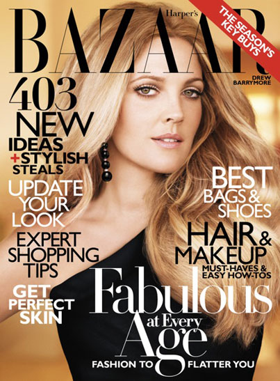 Drew Barrymore in Harper's Bazaar