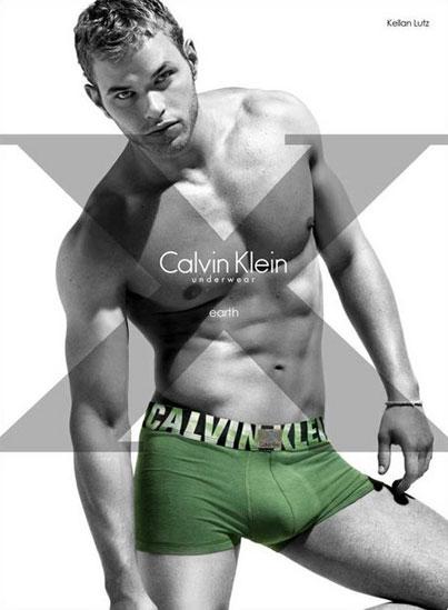 Kellan Lutz Goes Green in New Calvin Klein Underwear Ad