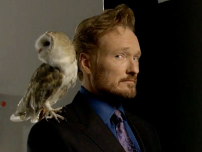 Conan O'Brien Mugs for First TBS Shoot (VIDEO)