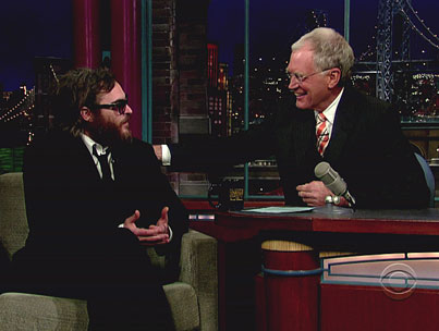 Writer: Letterman Was In on Joaquin Phoenix's Act