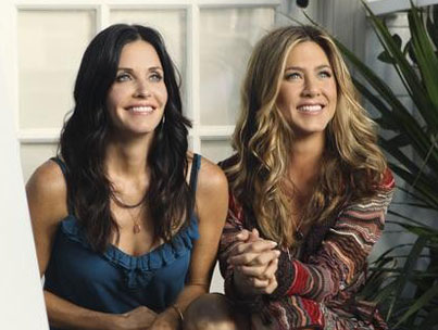 Peep Aniston & Cox's 'Cougar Town' Reunion (VIDEO)