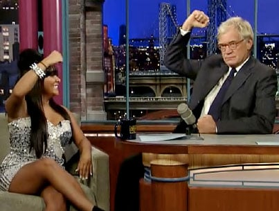 Snooki Teaches Letterman How To Fist Pump (VIDEO)-photo