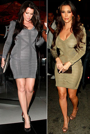 Kim Kardashian & Khloe Wear Same Dress (PHOTOS)