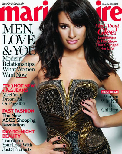 Lea Michele Covers Marie Claire UK (PHOTOS)