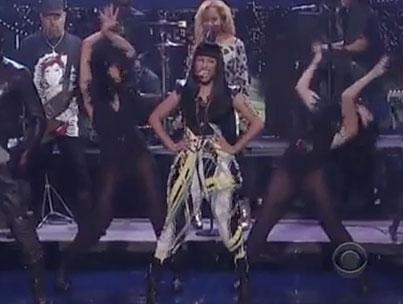 Nicki Minaj & Will.i.am Rock 'Letterman' (VIDEO)