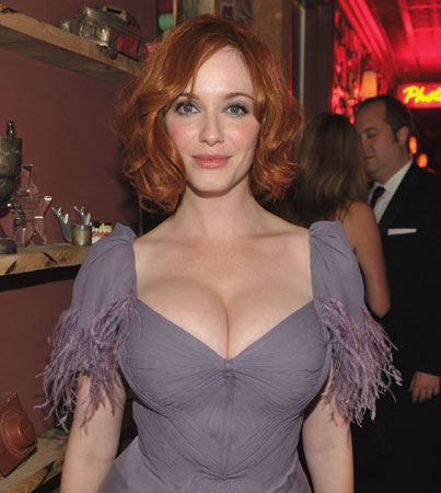 Christina Hendricks: Women Hit on Me