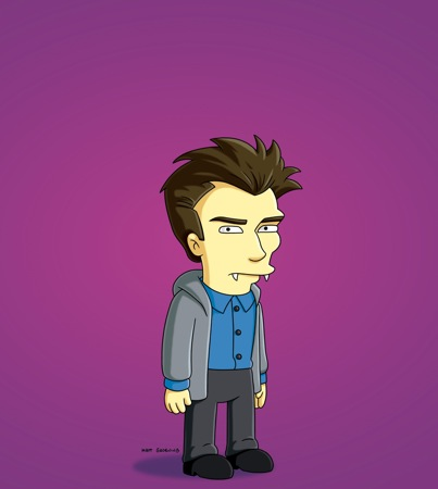Daniel Radcliffe Spoofs 'Twilight' on 'The Simpsons': First Look